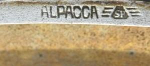 """LC/ Pitillera de """"Alpaca"""" y Logo """"SP"""""""